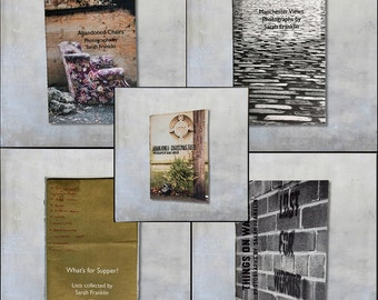 Five Mini Zines - Shopping Lists, Christmas Trees, Abandoned Chairs, Manchester Photos, Graffiti, Christmas gift stocking stuffer