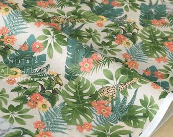 Japanese Fabric Tropics lawn - green - 50cm