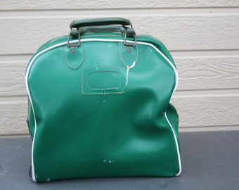 VINTAGE GREEN bowling ball bag