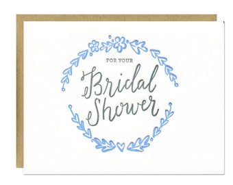 Bridal Shower Letterpress Card