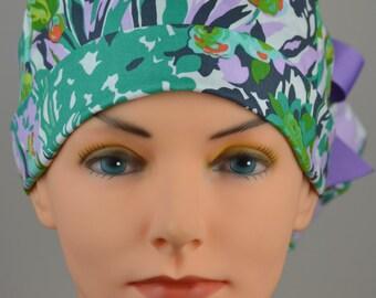 Scrub Hats // Scrub Caps // Scrub Hats for Women // The Hat Cottage // Ponytail // Violette