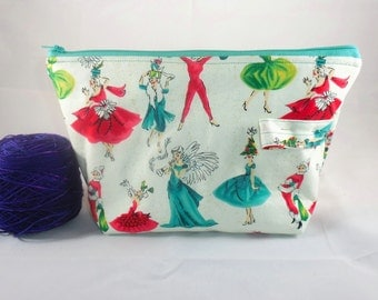 Christmas Party zippy bag by AnniePurl