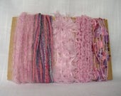 Pink Art Yarn Bundle Scrapbook Baby Fiber Embellishments 1519