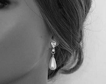 Wedding Earrings Bridal Earrings Pearl Earrings Vintage Inspired Pearl Drop Earrings Cocktail Earrings