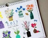 Limited Edition 2017 Wall Calendar by Zoe Ingram, Calendar, Planner, 2017 Calendar, Florals, Flowers, Calendar 2017