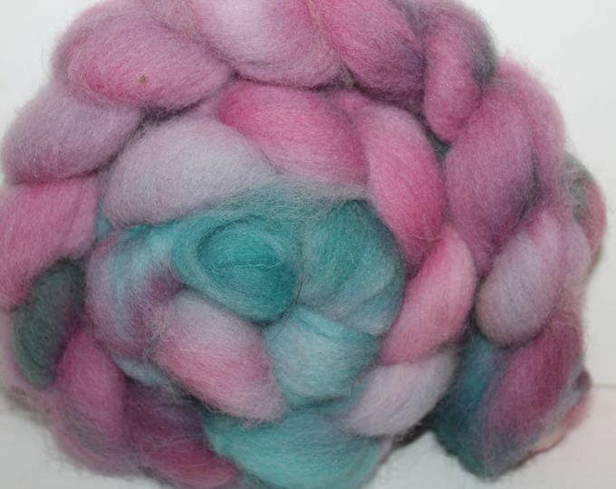 Kettle Dyed Cheviot Wool Top.  Easy to spin. 4oz  Braid. Spin. Felt. Roving. C68