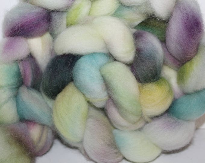 Kettle Dyed Cheviot Wool Top.  Easy to spin. 4oz  Braid. Spin. Felt. Roving. C73