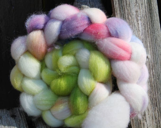 Kettle Dyed Falkland Wool Top.  Soft and easy to spin. 4oz  Braid. Spin. Felt. Roving. F155