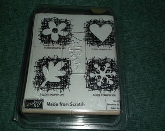 Made From Scratch Rubber stamps 4 Stampin Up set unmounted