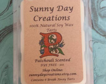 Patchouli Scented 100% Natural Soy Wax Break Away Tarts 3 oz