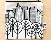 New York Central Park Fabric Purse  - handmade by Jane Foster