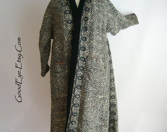 Vintage Lilli Ann Coat 1930s / Hand Loomed PARIS Luxurious Fabrics of France / Restoration Quality size 8 10 12 Woven Wool
