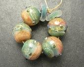 CrazyCatGlass Lampwork Boro Glass Beads Handmade Cameo Rounds