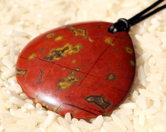 Poppy Jasper Pendant Morgan Hill Poppy Jasper Jewelry Polished Jasper Stone from Morgan Hill California Lapidary by Carla Fairey