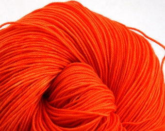 Esopus Hand Painted 100% SW Merino 500yds 4oz Electric Tangerine