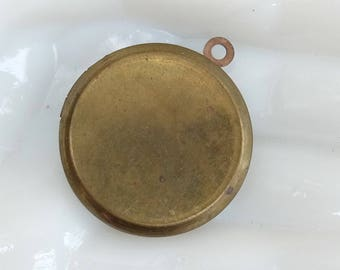 Vintage Plain Brass Locket