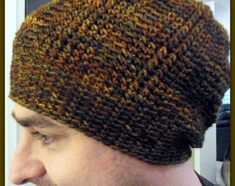 Slouchy Crochet Beanie. Awesome Texture-Unisex Adult Size-Boutique Quality Yarn-Holiday SALE!  Shipping Included