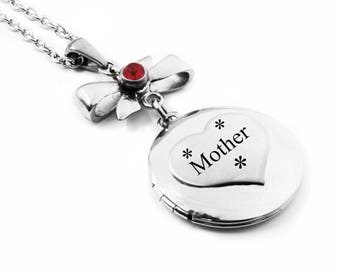 Mothers Silver Locket, Mothers Engraved Locket, Engraved Quote of your choice, Childrens Name, Personalized Engraving, Stainless Steel