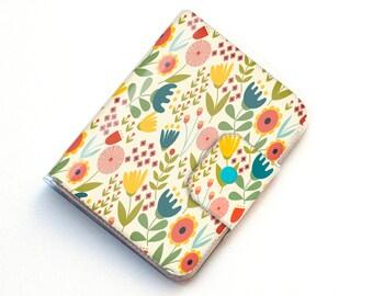 Vinyl Passport Case - Scandinavian Summer1 / traveller, floral, yellow, flowers, folk, folksy, passport, vinyl, gift, woman's, wallet, case