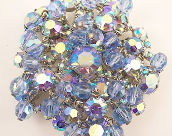 Large Juliana Rhinestone Crystal Brooch