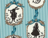 "New from Lecien, ""Girl's Story Alice Fall 2016"",  Alice and the white Rabbit, blue, yard"