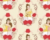 NEW Disney Fabric- Beauty and the Beast Fabric- Belle in cream, Camelot, yard