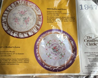 Vintage Unopened Cross Stitch Kit, The Creative Circle, A Mother's Love, Needlpoint Kit, New Old Stock