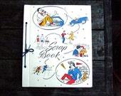 1950's Vintage Scrapbook Photo Album, High School Reunion Memory Book, Teen Scrap Book Album, Large Blank Scrapbook, Free Shipping