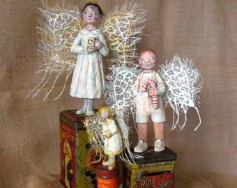 Hungarian Angel - Hand Carved - OOAK