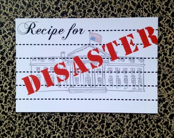 10 postcards Recipe for Disaster political postcard protest
