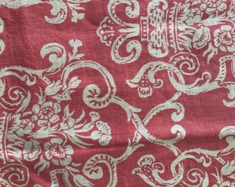 Peach linen fabric