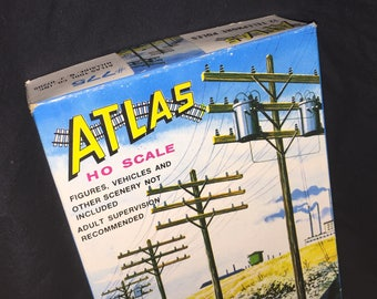 Atlas Rail Road Telephone Poles Box