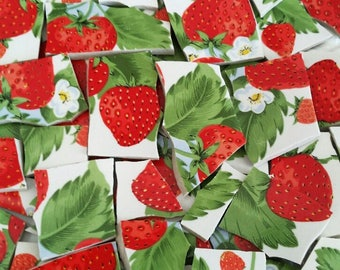 Mosaic Tiles-Strawberries- 55 Tiles