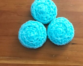 Dish Scrubbies 3 Crochet Pot Scrubbers