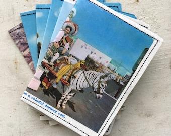 Slim Wallet-  Vintage Mexico Postcard- choose 1