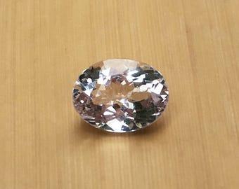 Natural Genuine Morganite - 9.14 x 11.83mm, 6.57mm deep Oval shape Loose Lavender Pink Morganite Gemstone, 4.33 carats - LSG1024