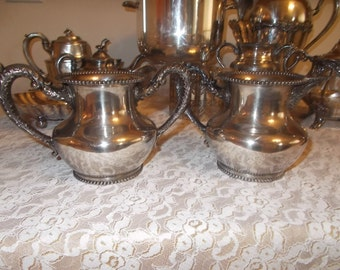 Meridian Silver plate sugar and creamer WF Rogers