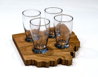 beer flight gift for him ohio shaped beer tasting flight craft beer gift for couple