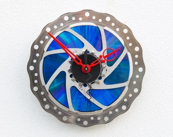 bike parts clock, Bike Gear Clock, bicycle parts clock, cyclist gift, boyfriend gift,  unique repurposed bike clock, Recycled Bike Clock
