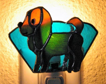 Stained Glass Puppy Night Light