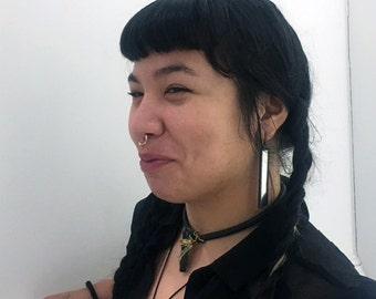 Mirror Earrings- Statement Earrings - Long Earrings - Contemporary Earrings - Glass Earrings- Mirrored Earrings- Gift for Her