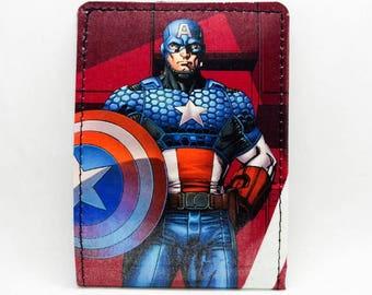 Sewn Comic Book Wallet - Captain America