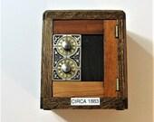 Post Office Box Door 1883 Bank Safe Rare Wood Door