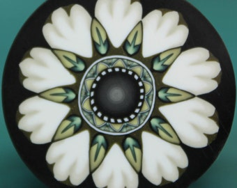 LARGE White Polymer Clay Flower Cane -'Oma's Garden' series (50dd)