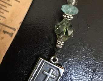 Charm for Purse or Pocket, Charm with Lords Prayer inside, Pass It On Pocket Prayer