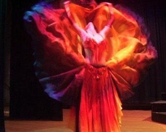 Bellydance costume silk veil rectangle dye errors DISCOUNT