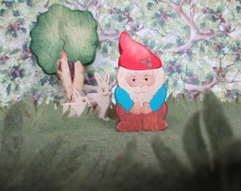 Toy Chirstmas Gnome  - Waldorf natural wood toys Dolls & Action Figures Miniature Toys