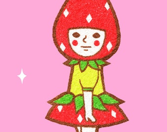Sticker -Strawberry Girl-