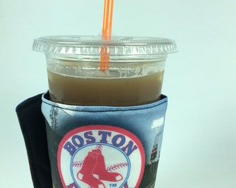 Red Sox Whats Up Your Sleeve Reusable Fabric Coffee Sleeve Boston Red Sox