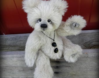 "GIOVANI artist teddy bear alpaca KIT - 8"" tall when finished - make it yourself"